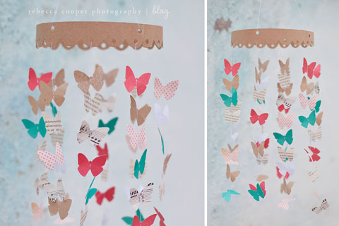 Diy spring butterfly mobile - Decoracion con mariposas ...