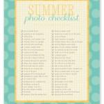 summer photo checklist: a free download