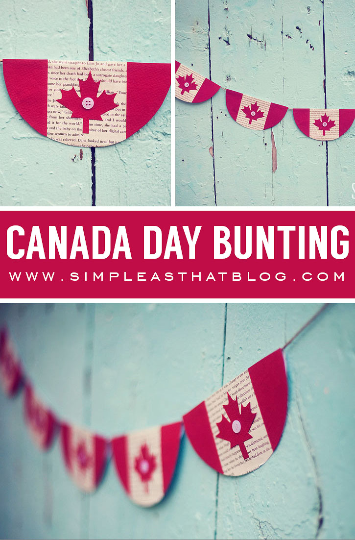 Simple Canada Day Bunting