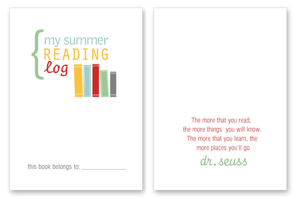 Summer Reading Log For Kids