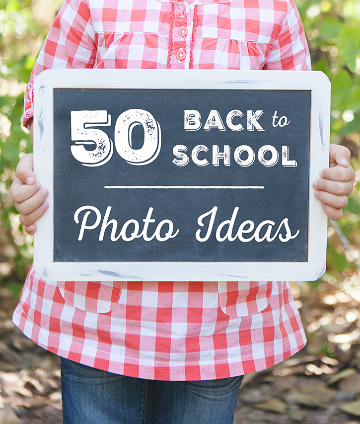 A printable list of Back to School photo ideas and photography prompts to help you document your child's school year in photos.