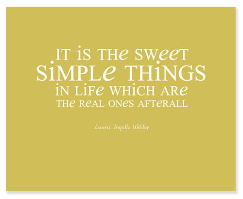 The Simple Things Free Printables