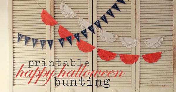 Halloween Bunting halloween bunting Printable Happy Halloween Bunting