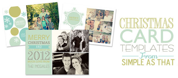 Christmas Card Templates From Simple As That - Free christmas card templates for photographers