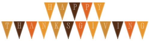 Ridiculous image throughout happy thanksgiving banner printable