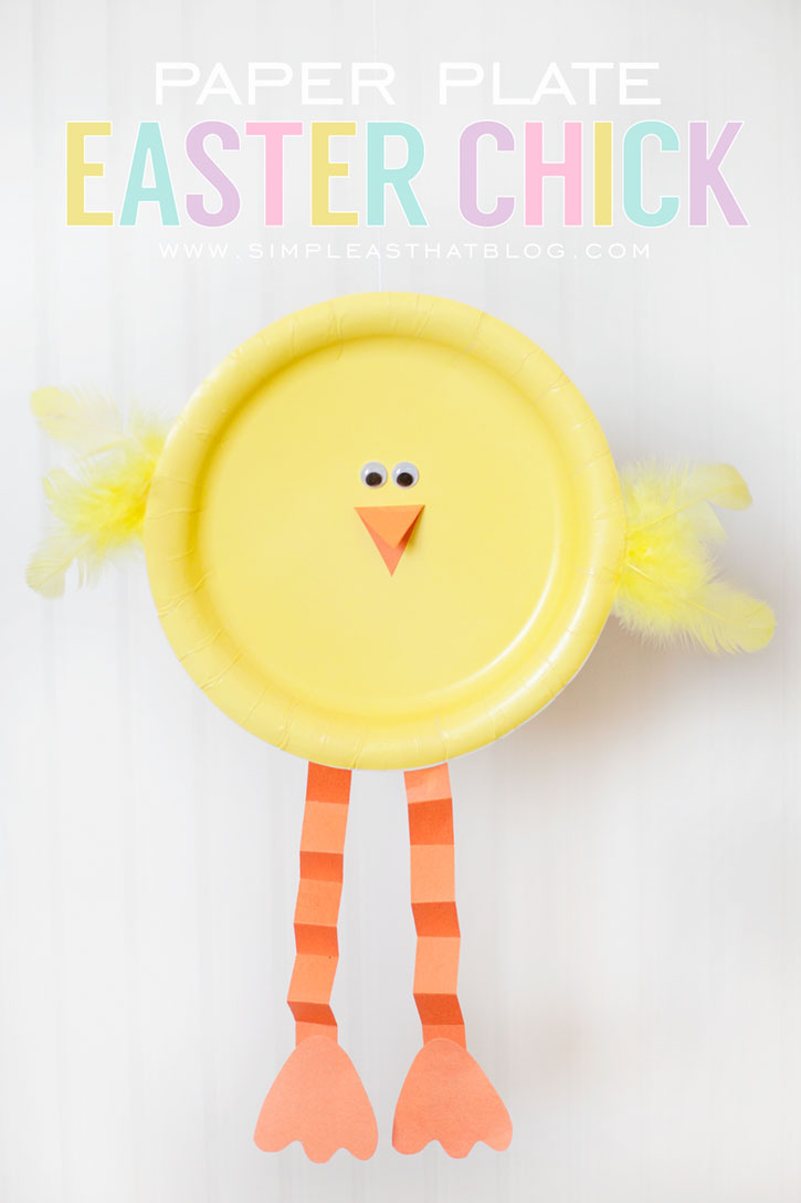 Paper plate Easter chicks