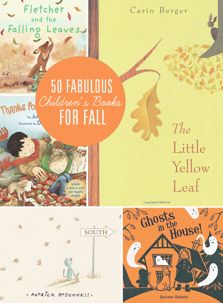 50 Fabulous books to read with your kids this Fall! Fun favorites that kids and parent will both enjoy.
