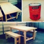 Ana White Farmhouse Table and Benches