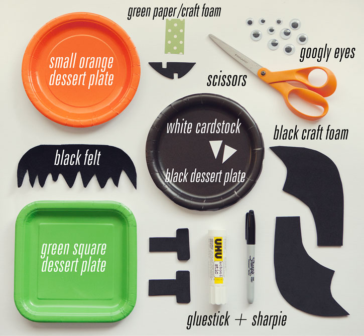 Cut out the various shapes youu0027ll need to piece together the bat pumpkin and frankenstein. I used black craft foam for lots of the pieces but you could use ...  sc 1 st  Simple as That Blog & Halloween Paper Plate Crafts