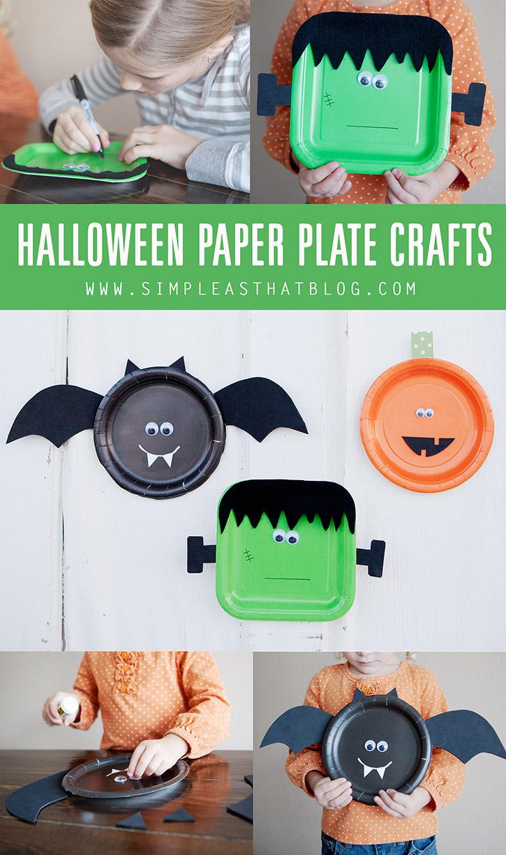Halloween paper plate craft