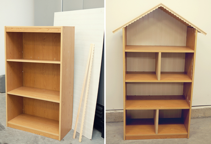 diy dollhouse bookshelf. Black Bedroom Furniture Sets. Home Design Ideas