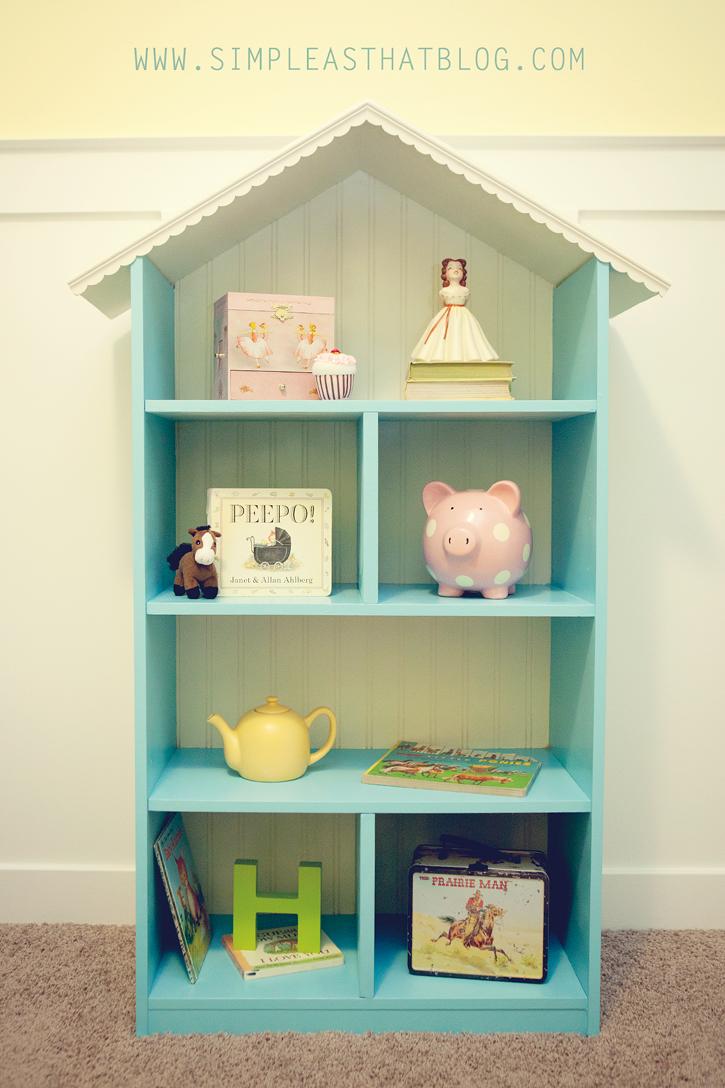 Diy dollhouse bookshelf for Diy basic bookshelf
