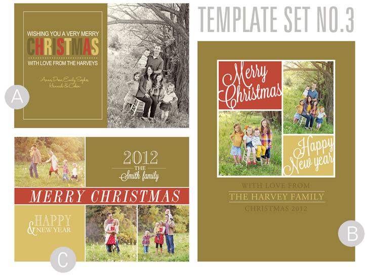 2012 Christmas Card Templates