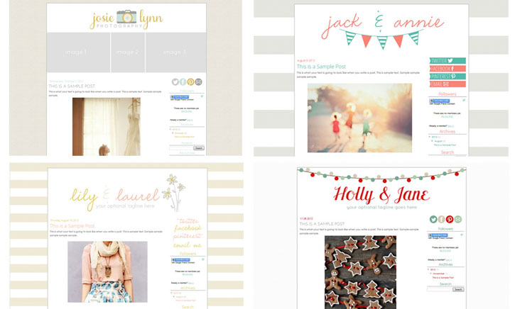 17th ave design premade blog template giveaway