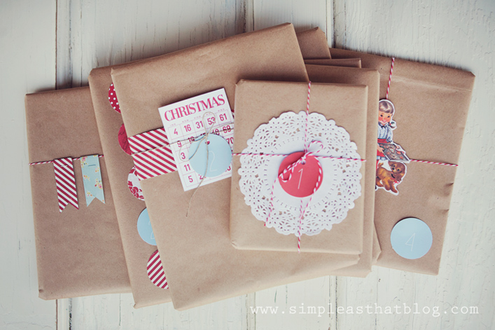 Simple Inexpensive Christmas Gift Wrapping