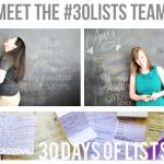 February 2013 Sponsor: 30 Days of Lists