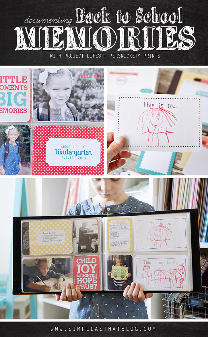 Documenting school year memories with pocket style scrapbooking