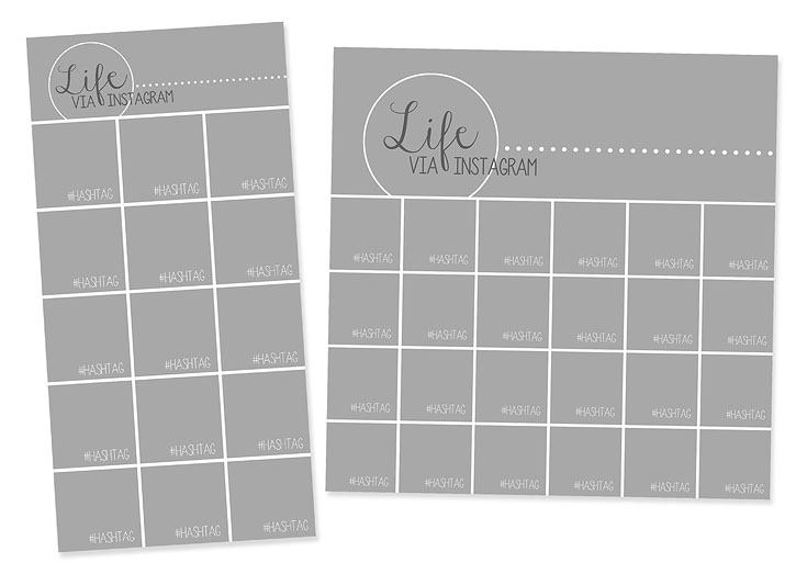 instagram collage templates for use with project life. Black Bedroom Furniture Sets. Home Design Ideas