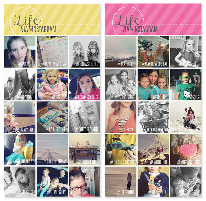 Instagram collage templates for use with project life after adding all your photos and customizing your template the way youd like youre ready to print i had my collages printed at costco maxwellsz
