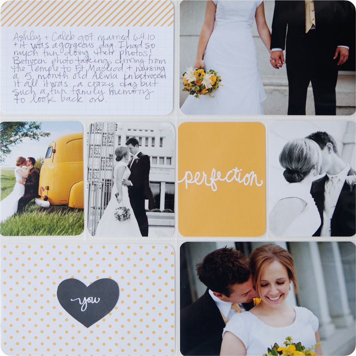 project life midnight edition wedding pages