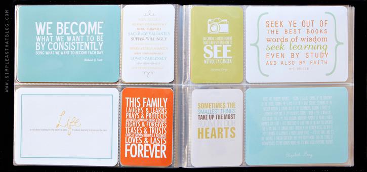favorite quotes mini album printables