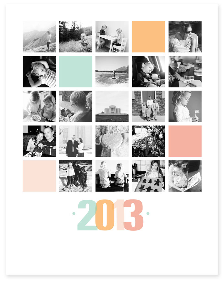 Frameables photo collage templates for framing - Picture design samples ...