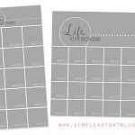 Monthly Photo Collages + Project Life