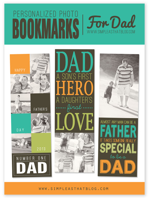 Personalized photo bookmarks for Dad!