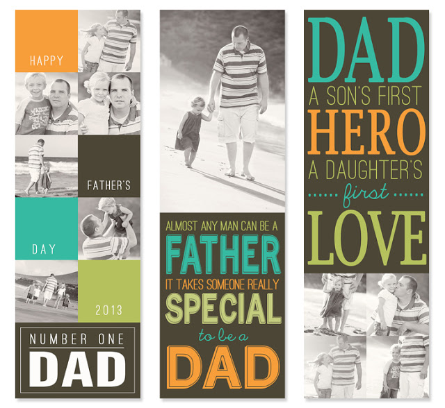 Looking for a simple and unique gift for Dad this Father's Day? These personalized photo bookmarks are priceless!