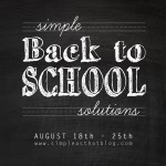Simple Back to School Solutions at Simple as That