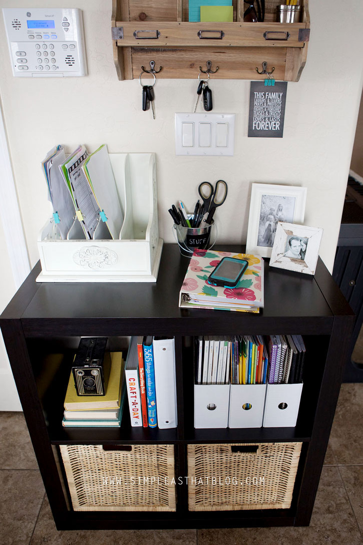 Budget friendly family command center for Family home storage