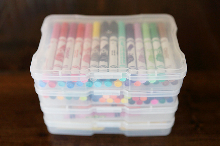 & Simple Ways to Organize Kids Craft Supplies