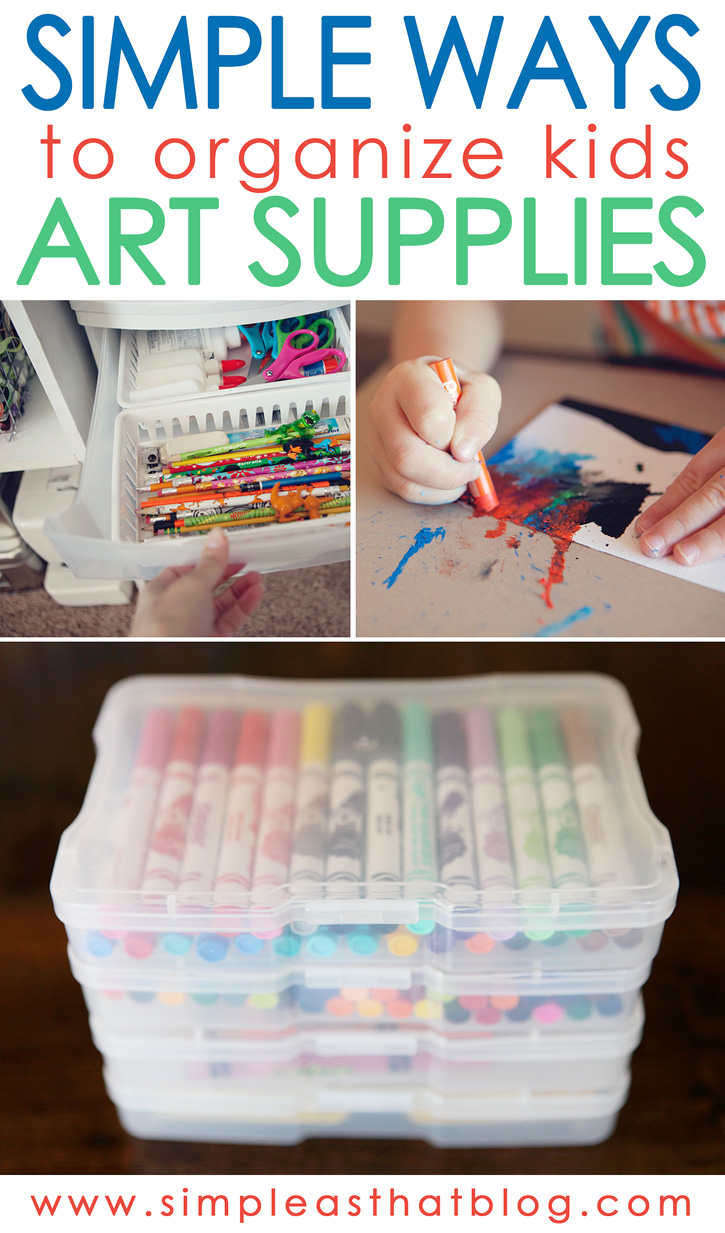 simple ways to organize kids craft supplies