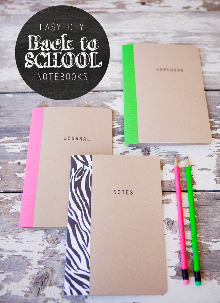 Diy school notebooks with oriental trading co for Back to school notebook decoration ideas