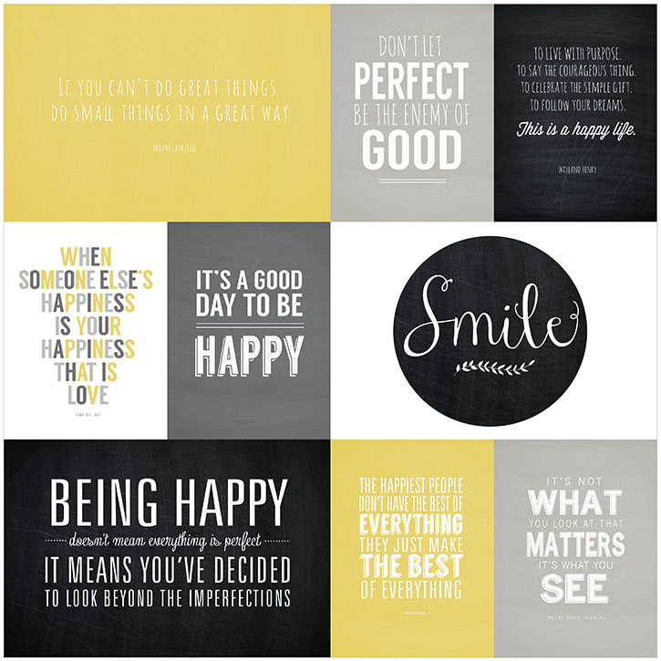 favorite quotes mini album be happy collection