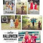 Retro Halloween Photo Overlays