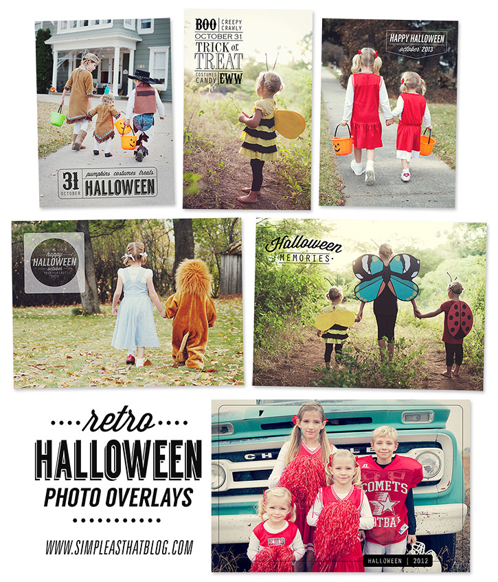 Halloween Photo Overlays | Can be applied to your favorite Halloween photos at Picmonkey.com!