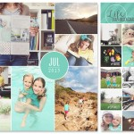 July, August + September Monthly Photo Collages