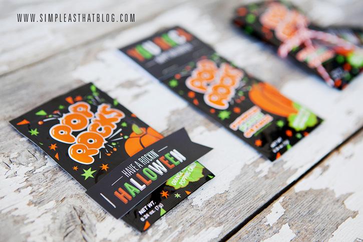 A cute, low-cost treat idea for Halloween classroom treats that really ROCKS!