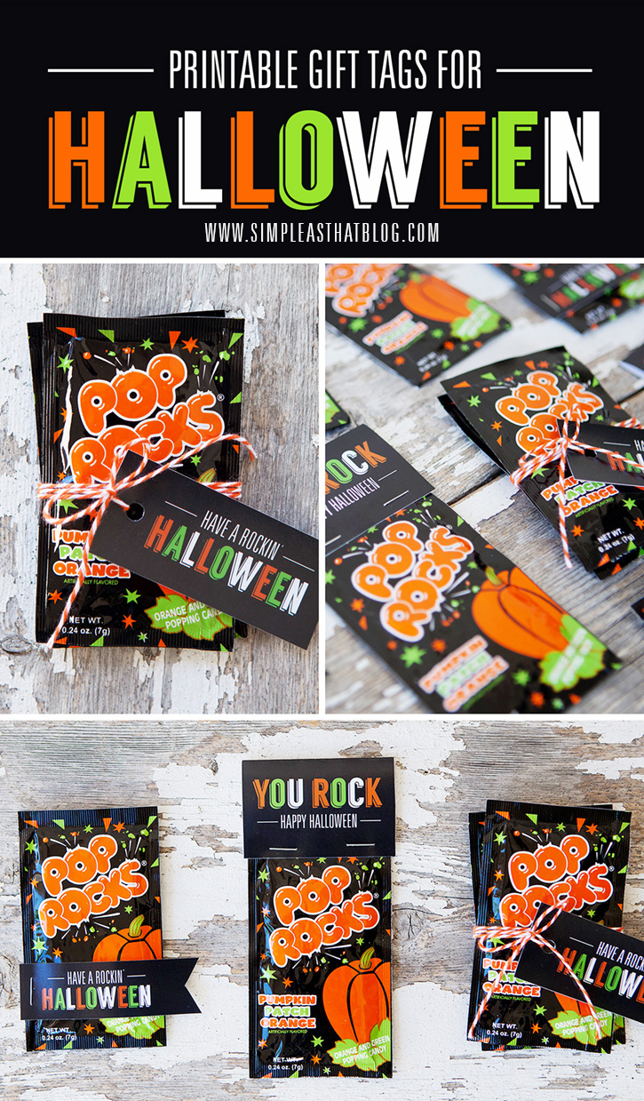 Pop Rocks Treats and Printable Tags for Halloween