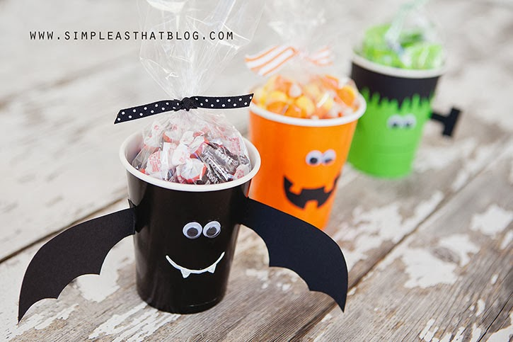 Simple Halloween Treat Cups