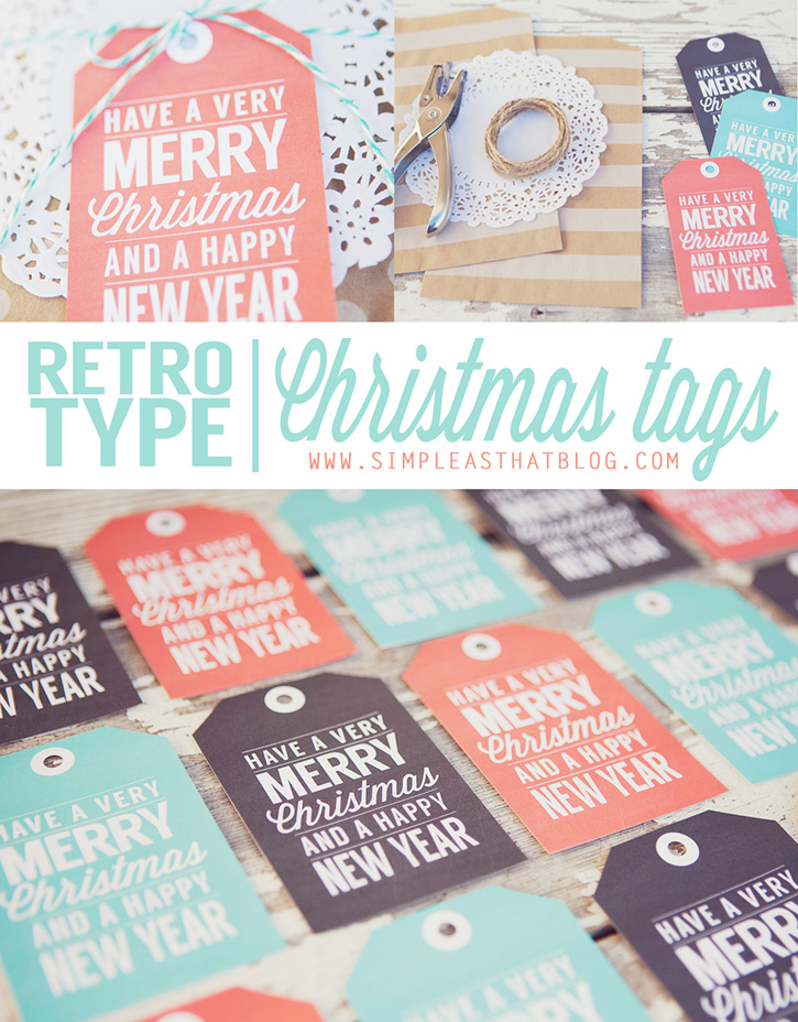 Wish friends and loved ones a very merry Christmas and a Happy New Year with these free printable gift tags