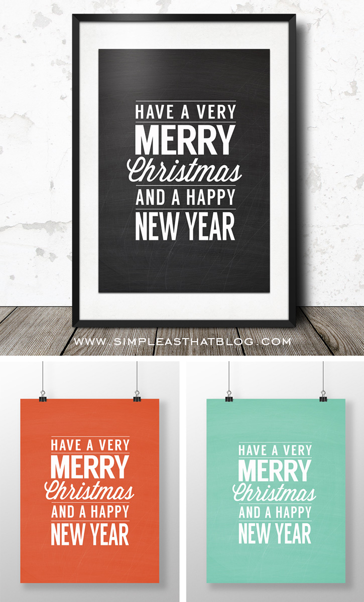 merry christmas printable wall art