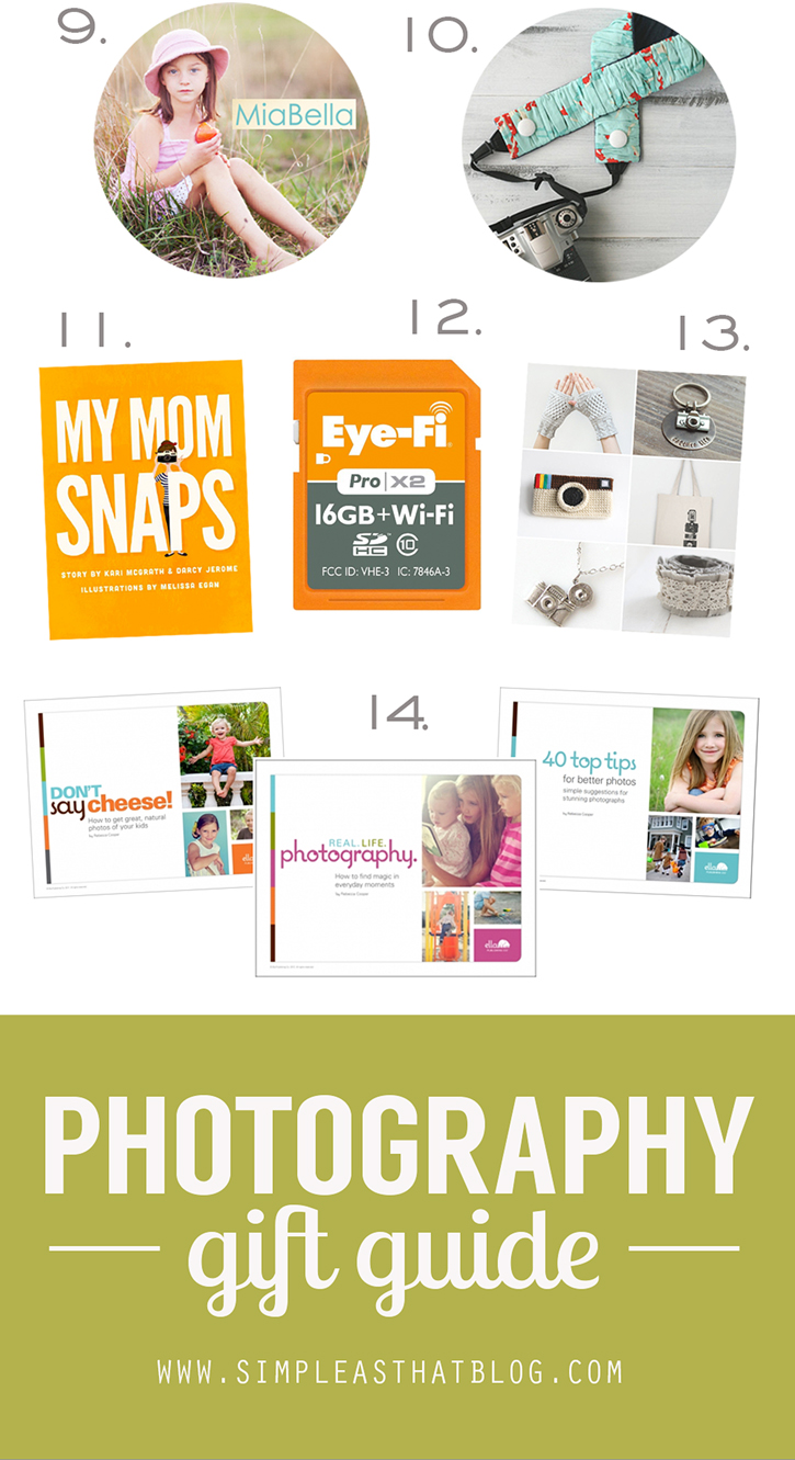 Unique and practical gift ideas for the photographer on your gift list.