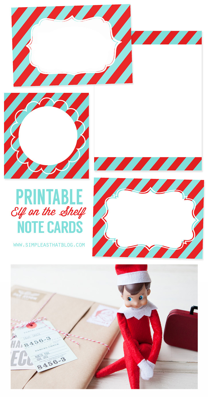 photograph about Elf on the Shelf Printable identified as Printable Elf upon the Shelf Observe Playing cards