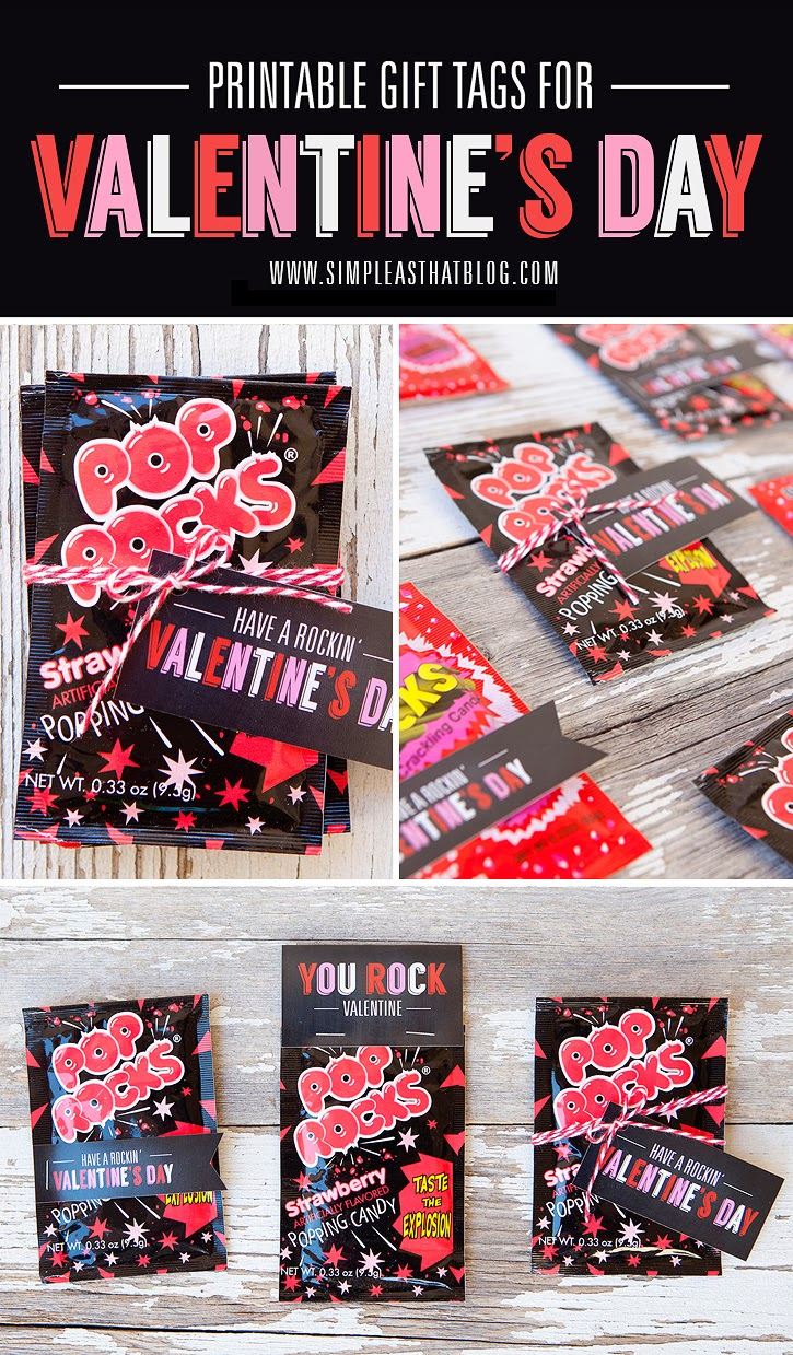 Free Pop Rocks Valentines. Attach to a package of of Pop Rocks for cute, fun and budget-friendly classroom treats or party favours this Valentine's Day!