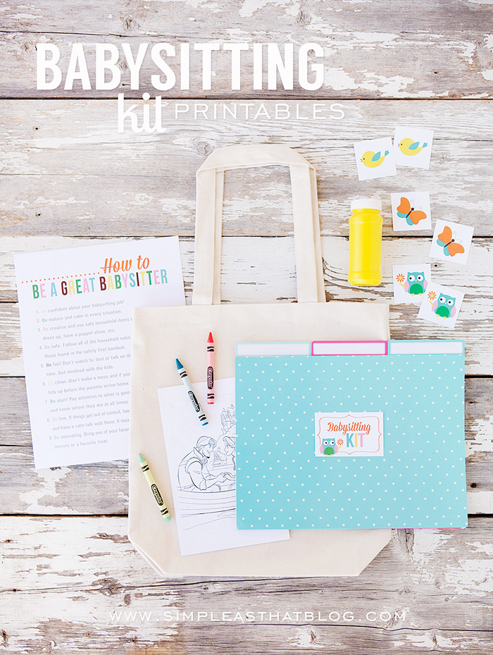create a simple babysitting kit with this set of free printables wwwsimpleasthatblog