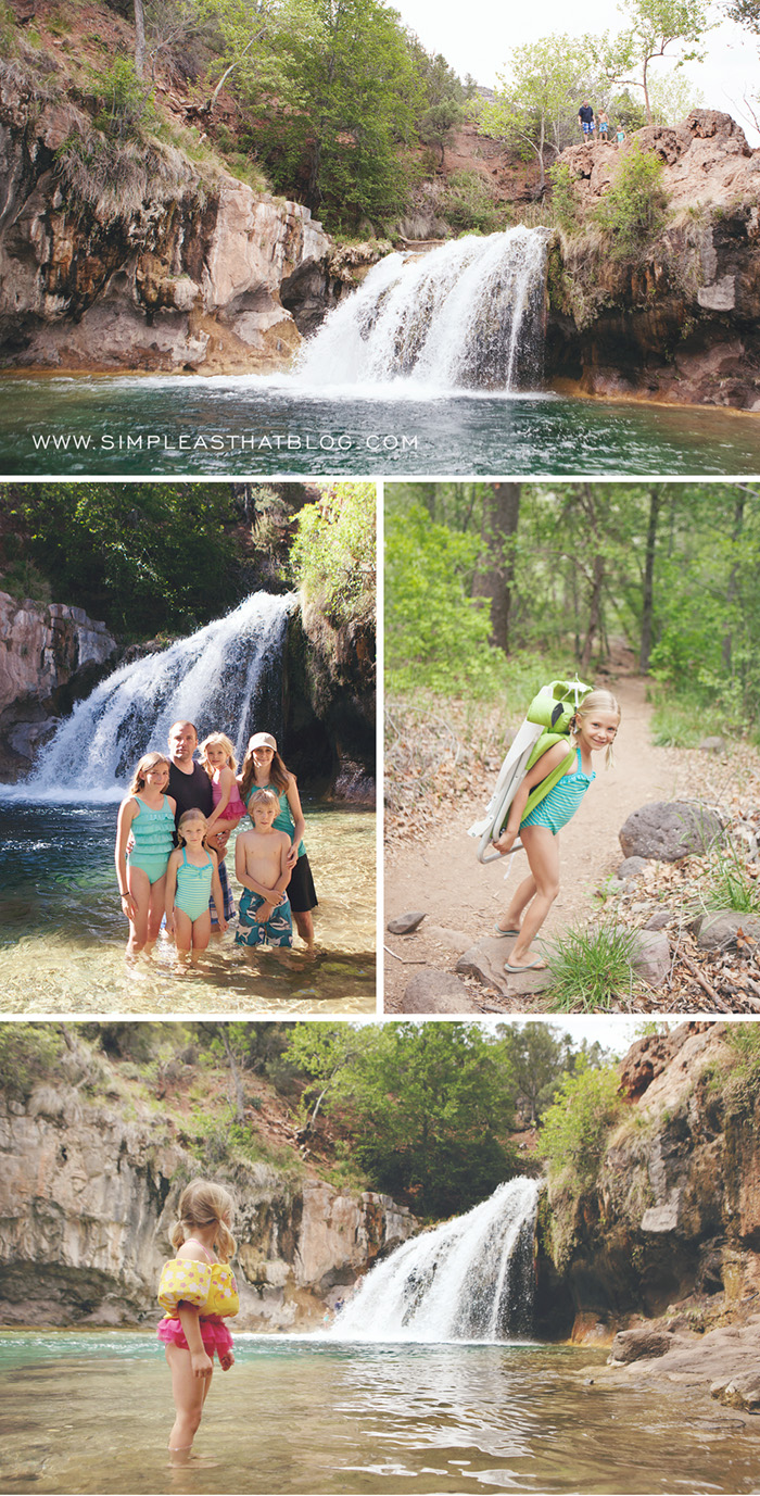 Outdoor Family Adventures at Fossil Creek, Arizona. #SimplethingsSunday
