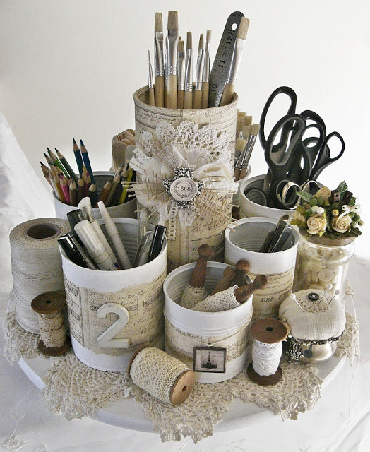 25 recycled tin can crafts and projects for Tin cans for crafts