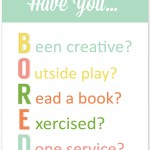 Printable BORED Checklist for Summer